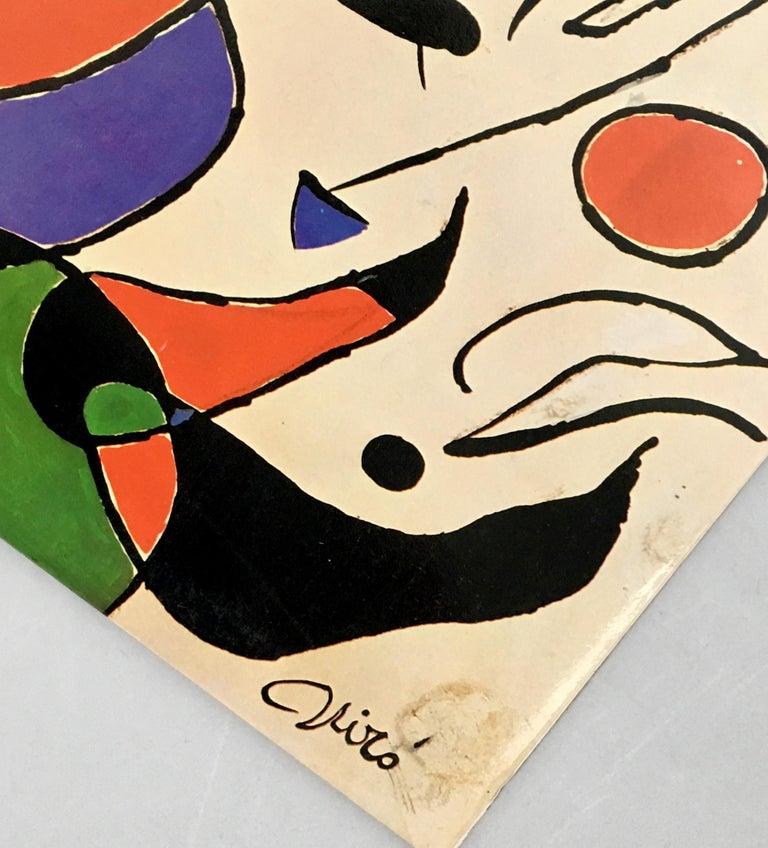 Joan Miró vinyl album art: set of two, 1966 & 1979:  Raimon and Joan Miró were close friends that first collaborated on the 1966 album Cançons de la roda del temps. In 1979, Miró designed a cover for the album Quan la aigua queixa, including the
