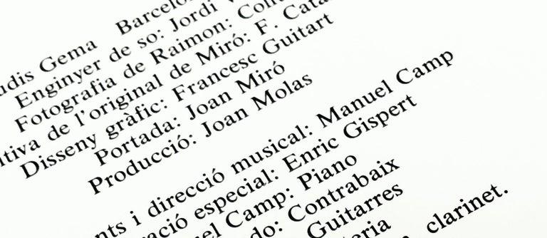 Joan Miró Vinyl Record Art (set of 2) For Sale 1