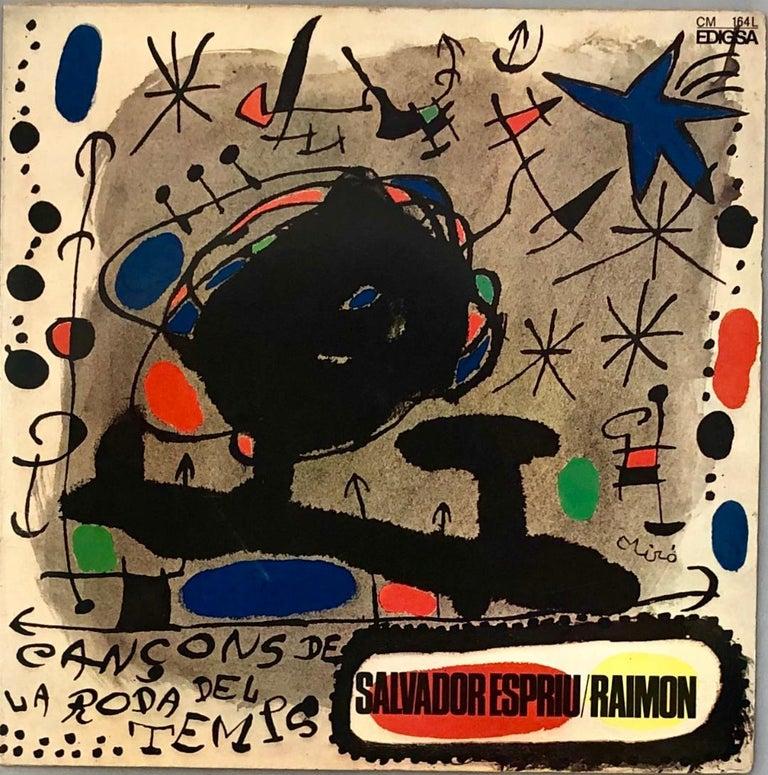 Joan Miró Vinyl Record Art (set of 2) For Sale 2