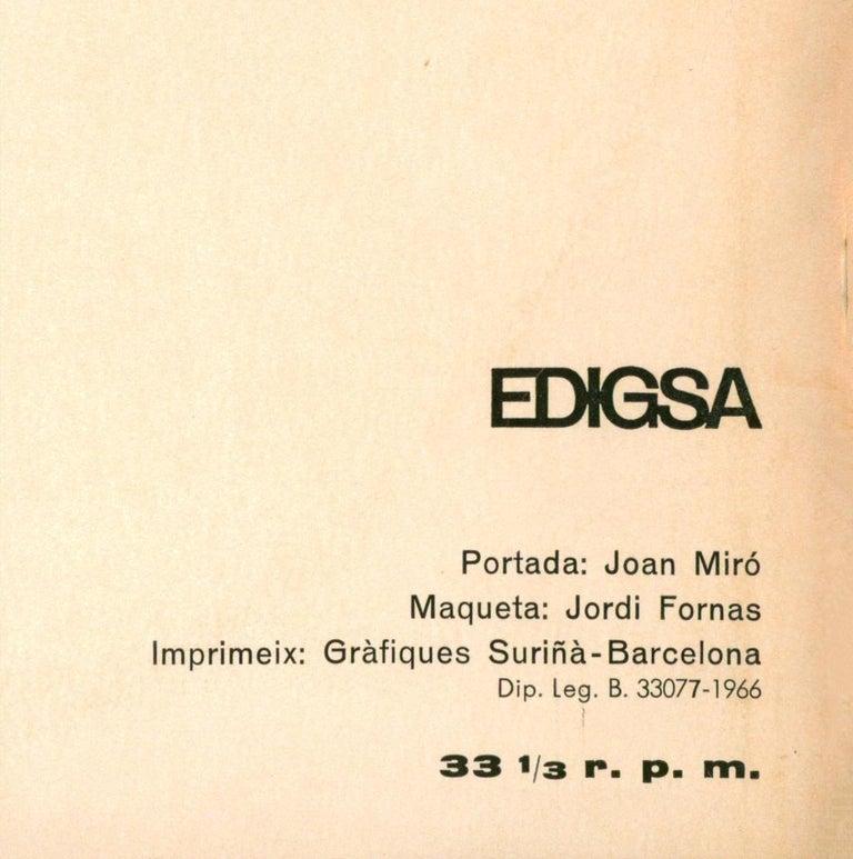 Joan Miró Vinyl Record Art (set of 2) For Sale 4