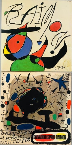 Joan Miró Vinyl Record Art (set of 2)