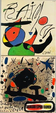 Joan Miró Vinyl Record Art (set of 2)