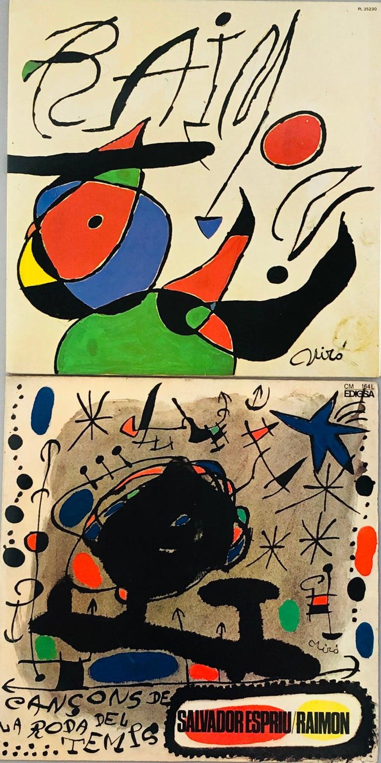 Joan Miró Vinyl Record Art (set of 2) - Print by Joan Miró