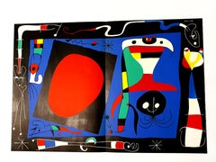 Joan Miro -  Woman with Mirror - Original Lithograph