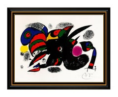 Joan Miro XXE Siecle Color Lithograph Hand Signed Abstract Animal Modern Artwork