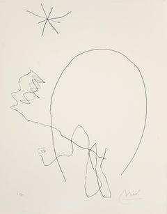 Journal D'Un Graveur - Vol. 1  Plate 7 - Original Etching by J. Mirò - 1975
