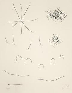 Journal d'un Graveur - Vol. 2  Plate 10 - Original Etching by J. Mirò - 1975
