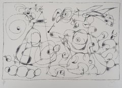King Ubu : Birds - Original lithograph, Handsigned & N° (Mourlot #416)