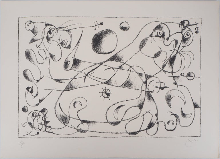 King Ubu : Master of Planets - Original lithograph, Handsigned (Mourlot #487) - Print by Joan Miró