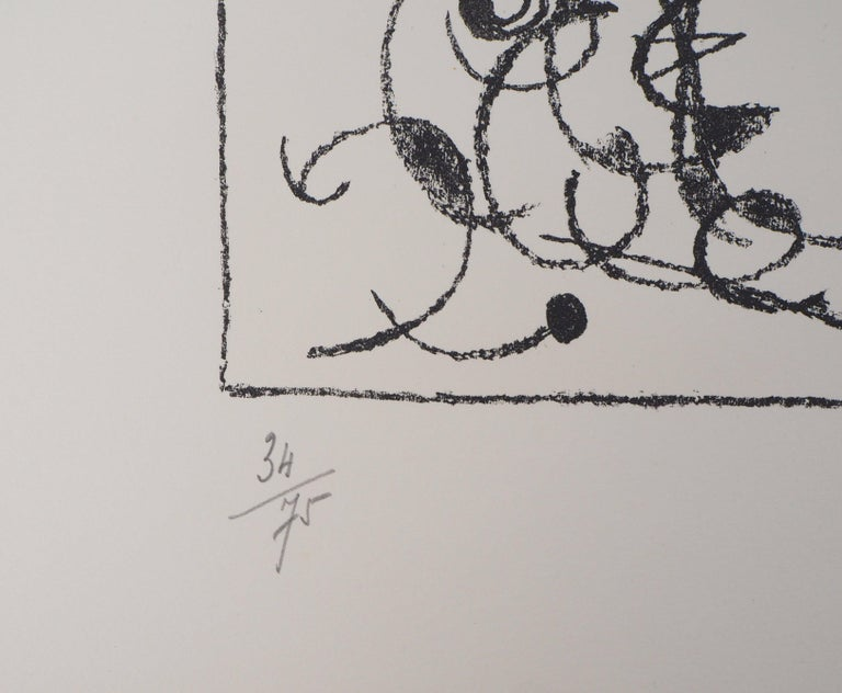 King Ubu : Master of Planets - Original lithograph, Handsigned (Mourlot #487) - Abstract Print by Joan Miró