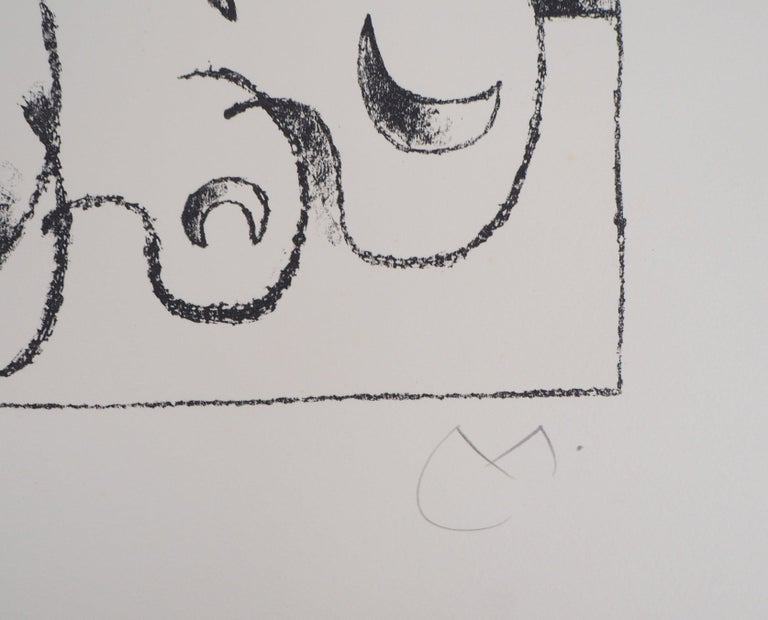 King Ubu : Master of Planets - Original lithograph, Handsigned (Mourlot #487) - Gray Figurative Print by Joan Miró