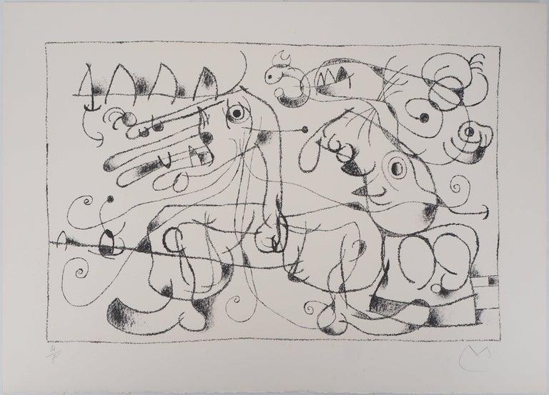 King Ubu VIII - Original lithograph, Handsigned & N° - Print by Joan Miró