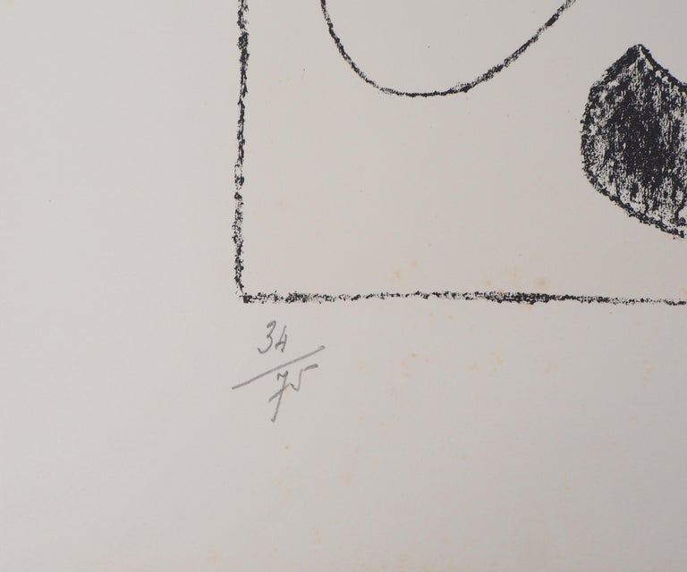 King Ubu VIII - Original lithograph, Handsigned & N° - Abstract Print by Joan Miró