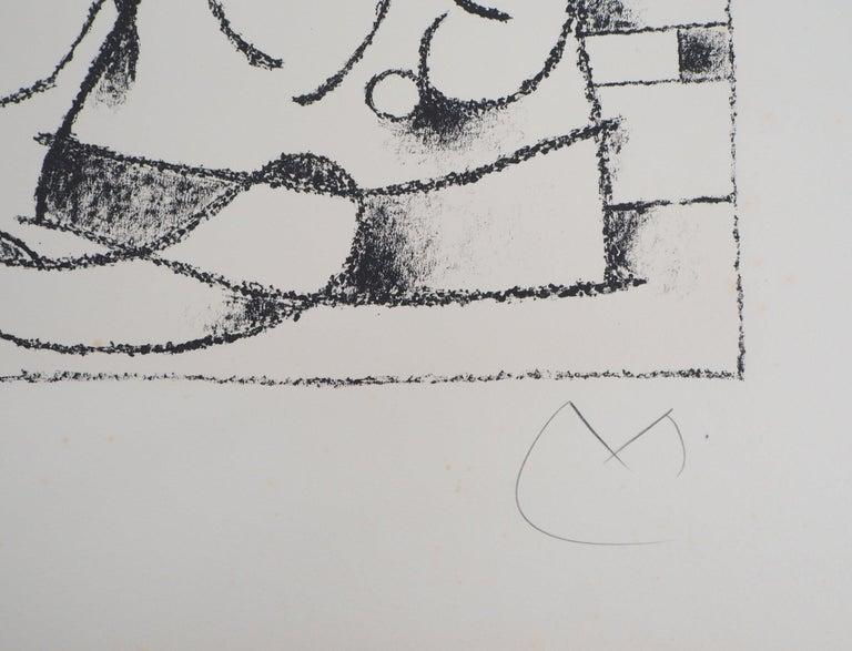 King Ubu VIII - Original lithograph, Handsigned & N° - Gray Abstract Print by Joan Miró