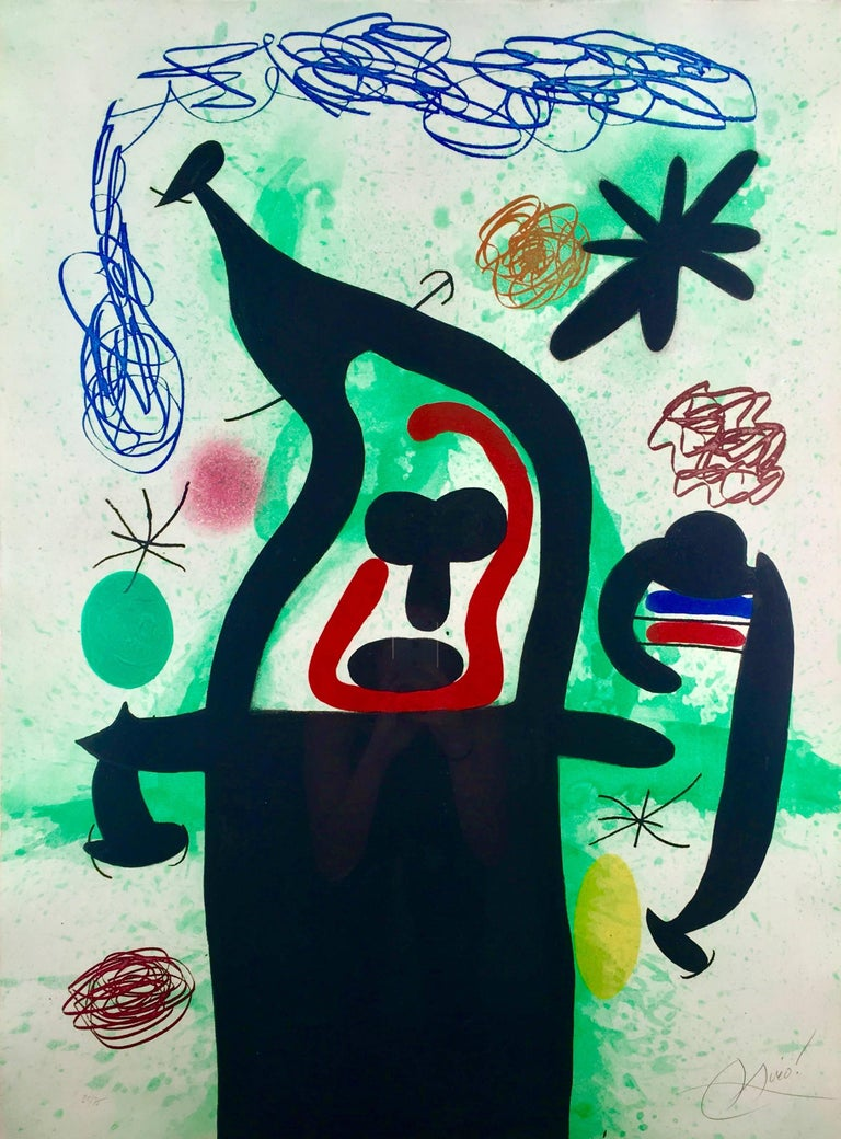 Joan Miró Abstract Print - La Harpie