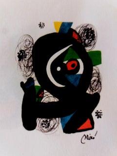 La Melodie acide original lithograph painting