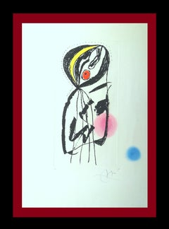 LA PALUDEENNE original engravint abstract painting