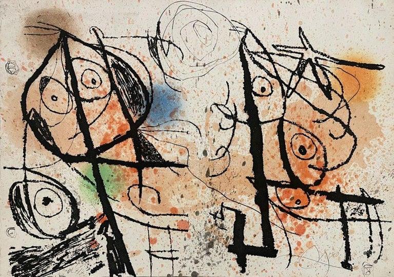 Joan Miró Abstract Print - Le courtisan grotesque