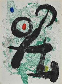 Le Faune - Original Lithograph by Joan Mirò - 1963