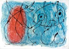 Le Lézard aux Plumes d'Or - Original Lithograph by Joan Mirò - 1971