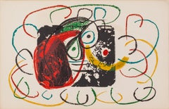 L'enfance d'Ubu: 1021 by Joan Miro - Abstract