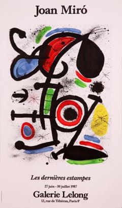 Les Derniers Estampes-Galerie Lelong by Joan Miro (abstract print)