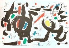 Les Essències de la Terra - Original Lithograph by Joan Mirò - 1968