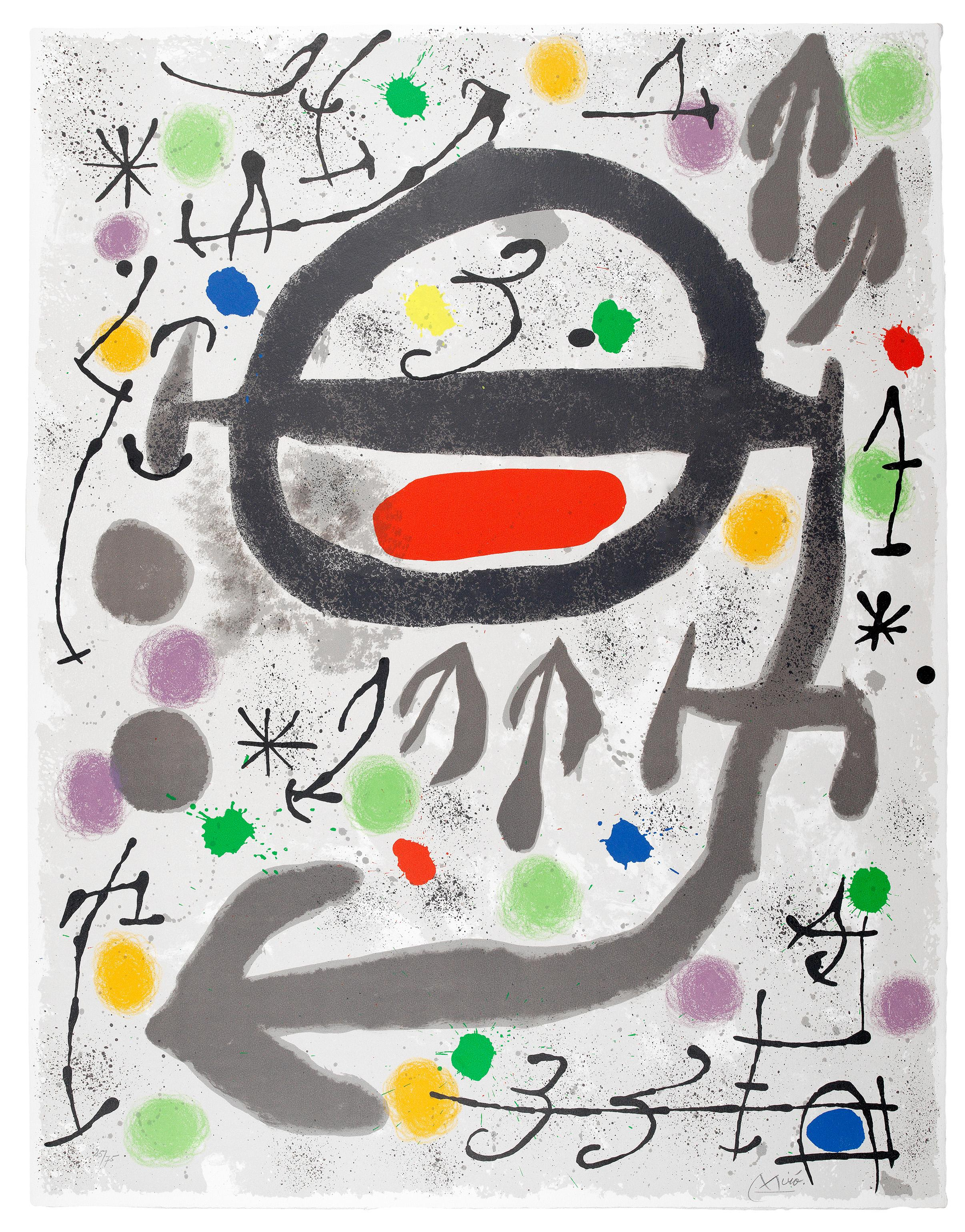 Les Perseides: Plate III - Joan Miró, Lithograph, Abstract prints