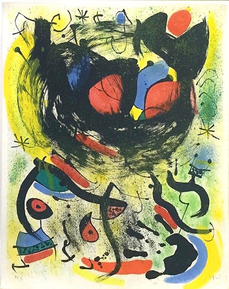 Joan Miró Abstract Print - Les Voyants (The Seers), Modern Lithograph