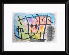 Lithograph from Cartones by Joan Miro, 1965
