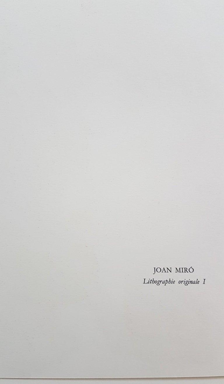 Lithographie Originale I - Black Print by Joan Miró