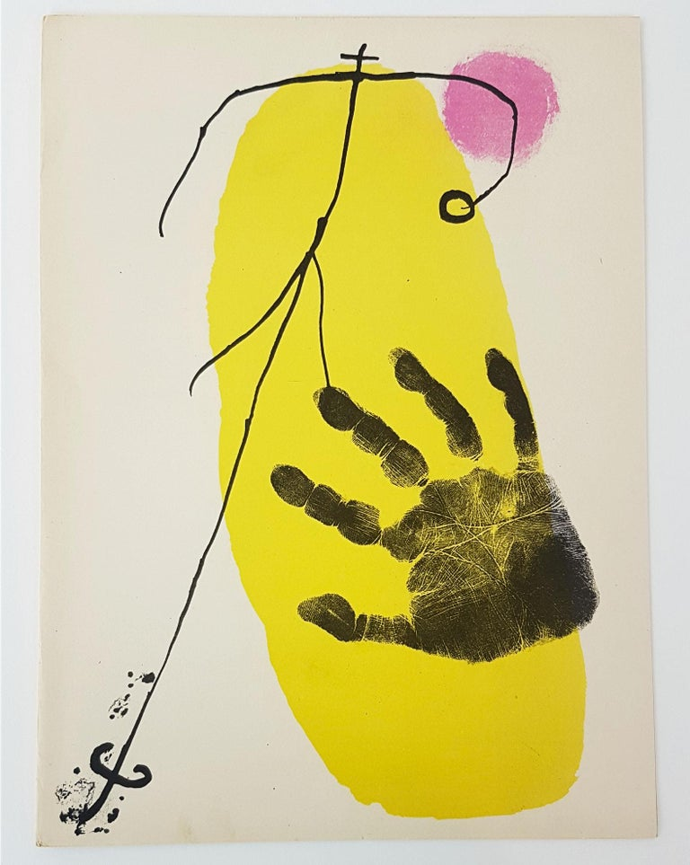 Joan Miró Figurative Print - Lithographier Originale (one plate from Artigas)