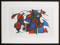 Lithographs II (M. 1039), Colorful Abstract Lithograph by Joan Miro 1975