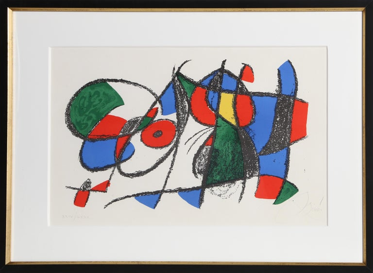 Artist:Joan Miro, Spanish (1893 - 1983) Title:Lithographs II (M. 1044) Year:1975 Medium: Lithograph, signed and numbered in pencil Edition: LXXX Paper Size: 13.5  x 21 in. (34.29  x 52.07 cm) Frame: 21.5 x 28.75 inches  Printer: Mourlot,