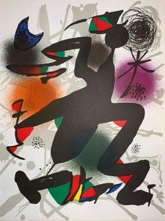 Litografia Original IV - Joan Miro - figurative Print - 1977 - Surrealist