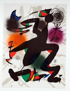 """Litografía Original IV"" - Joan Miró"