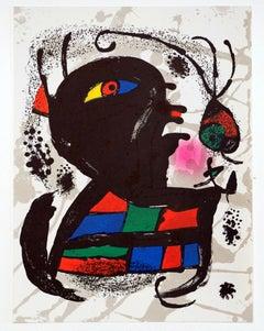 """Litografía Original V"" - Joan Miró"