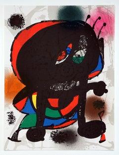 """""""Litografía Original V"""" - Joan Miro"""