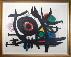 'l'Oiseau Destructeur' original abstract etching signed by Joan Miró
