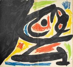 Maitres-Graveurs Contemporains - Original Lithograph by J. Mirò - 1970