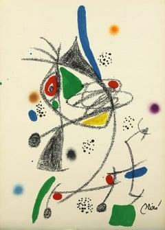 Maravillas 4 plate-signed lithograph print by Joan Miró from Ediciones Polígrafa