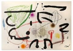 Maravillas con Variaciones Acrosticas - Original Lithograph by J. Mirò - 1975