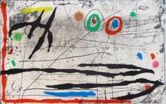 Mark on the Wall I Trace Sur La Paroi I - Spain Surrealism Abstract Carborundum