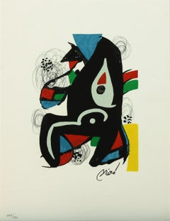 Melodie #10 plate-signed color lithograph from La Mélodie Acide by Joan Miró