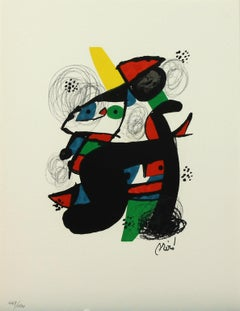 Melodie #11 plate-signed color lithograph from La Mélodie Acide by Joan Miró