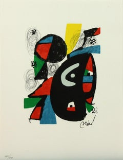 Melodie #12 plate-signed color lithograph from La Mélodie Acide by Joan Miró