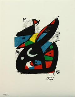 Melodie #13 plate-signed color lithograph from La Mélodie Acide by Joan Miró