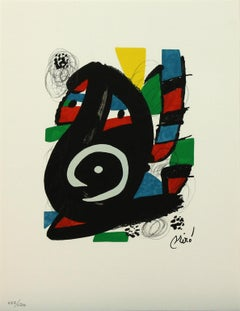 Melodie #14 plate-signed color lithograph from La Mélodie Acide by Joan Miró