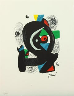 Melodie #3 plate-signed color lithograph from La Mélodie Acide by Joan Miró