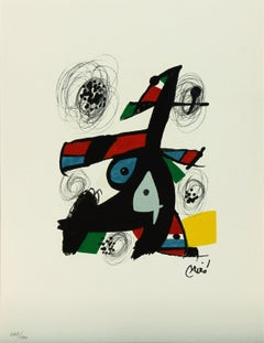 Melodie #5 plate-signed color lithograph from La Mélodie Acide by Joan Miró